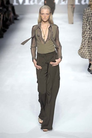 Max Mara S S 2010 I love the laid back feel to this outfit and the sheer