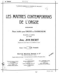 Capa do Volume Nº 1 da antologia Les Maîtres Contemporains de l'Orgue