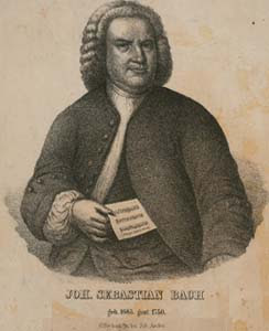 Johann Sebastian Bach - Imagem NYPL Digital Library