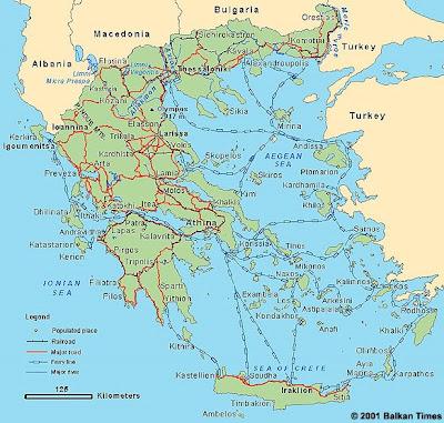 harta greciei presentment