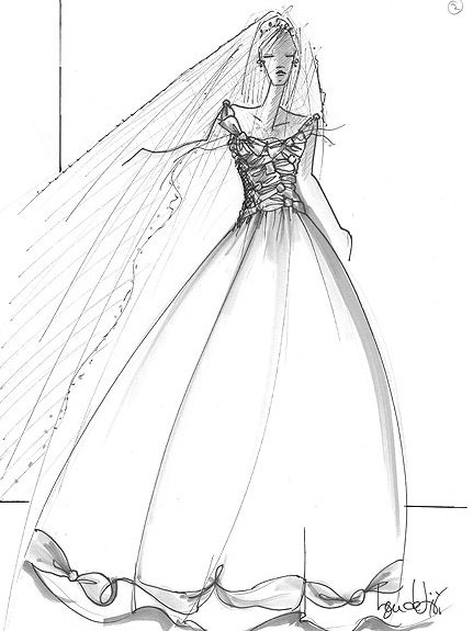 25dresses Kate Middletons Wedding Gown Sketches