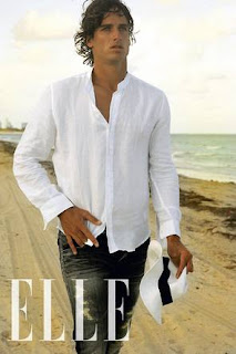 Shirtless photo of Feliciano Lopez on Spanish Elle magazine