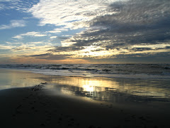 Winter sunset Ocean Shores WA