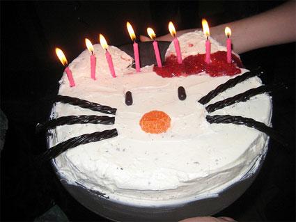 "Hello Kitty™ Happy Birthday Illustrated Letter Banner. 7.5"" x 7"""