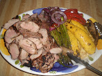 Pork tenderloin with grilled vegetables