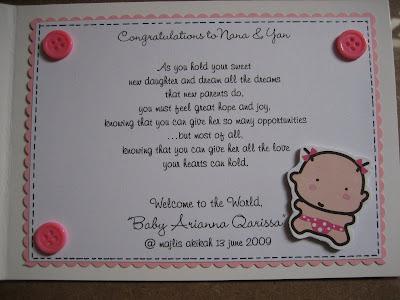 nana's & jaja's baby aqiqah card & gift*