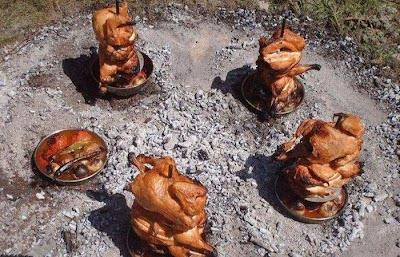 الدجاج المشوى بالصفائح