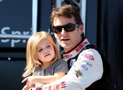Jeff  Gordon and his Daughter Ella Sophia