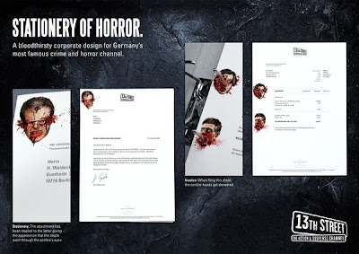 Stationery Of Horror: Bloodthirsty Corporate Stationery Design Seen On www.coolpicturegallery.net