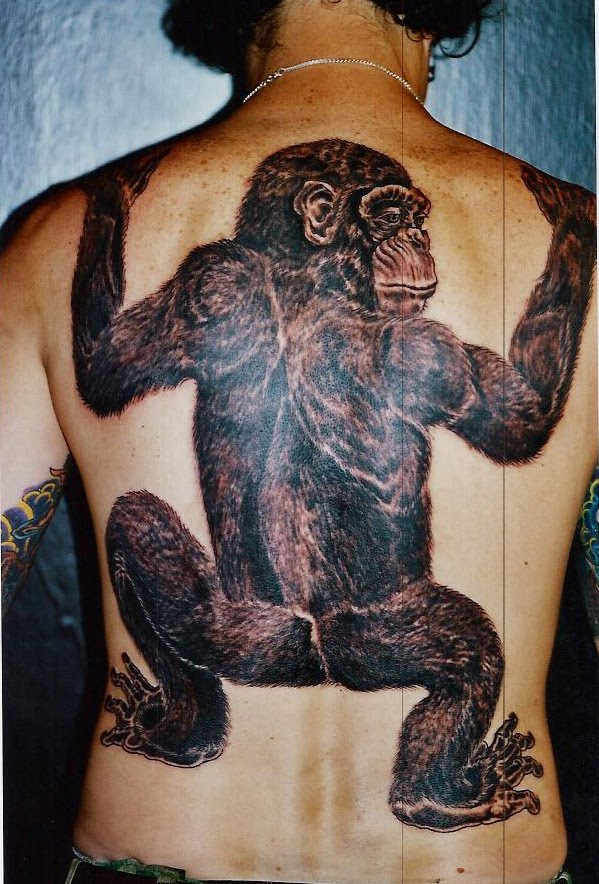 Monkey tattoos damn cool pictures for Funny dog tattoos