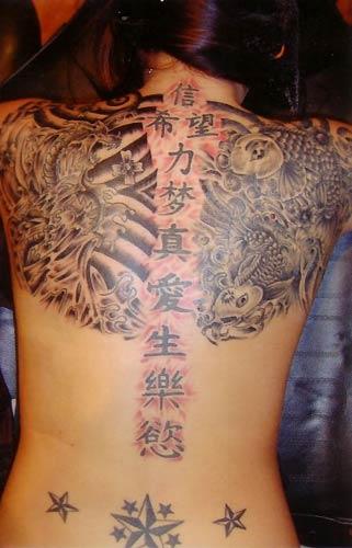 Beautiful Women tattoo - celebrity tattoo