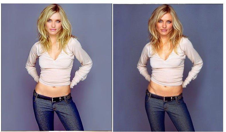 Фото до и после обработки в фотошопе