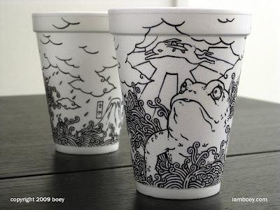 arte con vasos