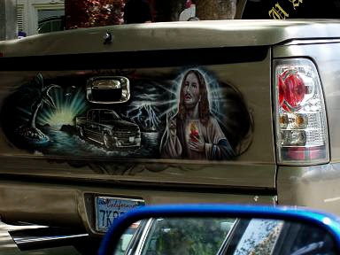 Mexican airbrushed tailgate murals aka limey59 for Airbrushed mural