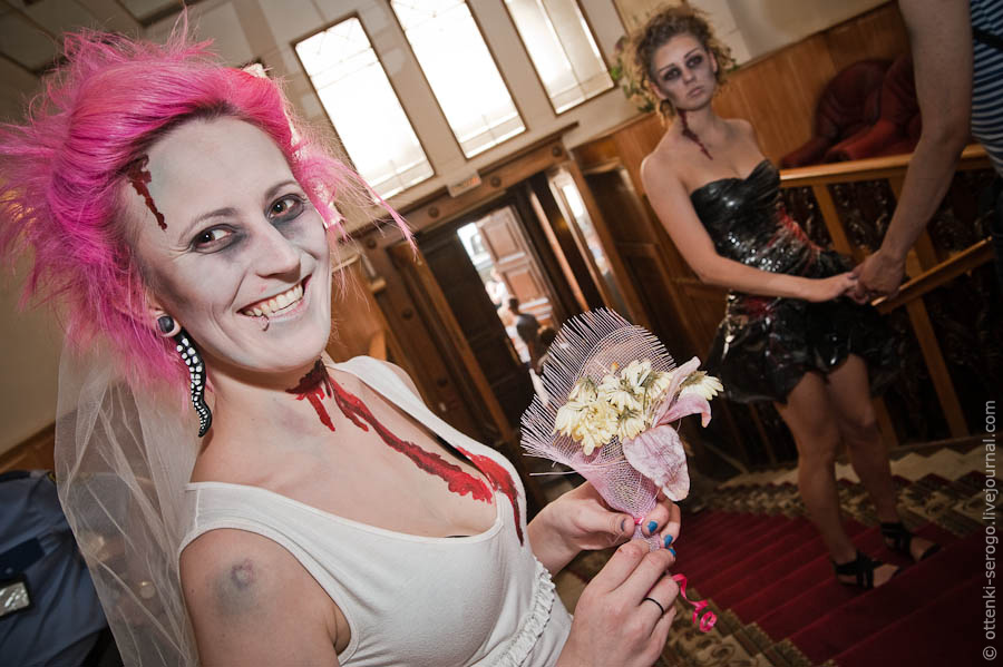 Zombie wedding in russia