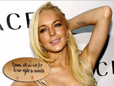 Lindsay Lohan Tattoo. Posted by Tovris at 9:43 PM