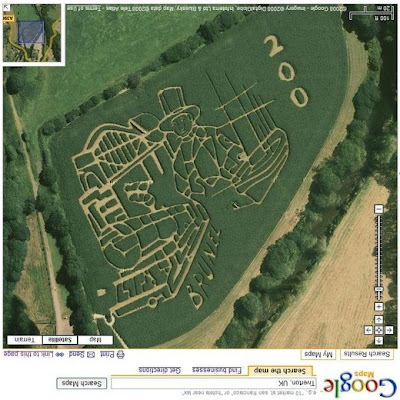 Bizarre Google Earth  Image Seen On www.coolpicturegallery.net