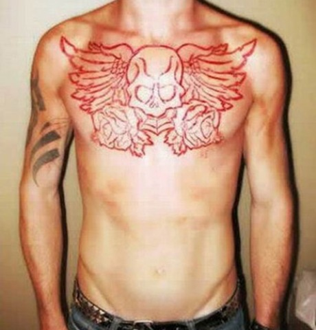 25 insane scarification tattoos damn cool pictures. Black Bedroom Furniture Sets. Home Design Ideas