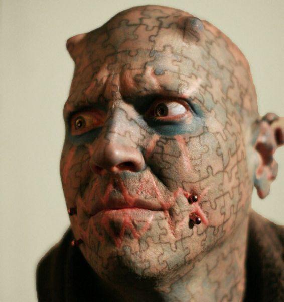 funny bizarre face tattoos