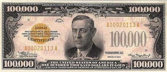 The Biggest Dollar Bills in History: $500 to $100000 ~ Damn Cool ...