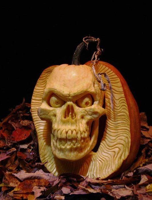 Damn cool pictures incredible pumpkin carvings
