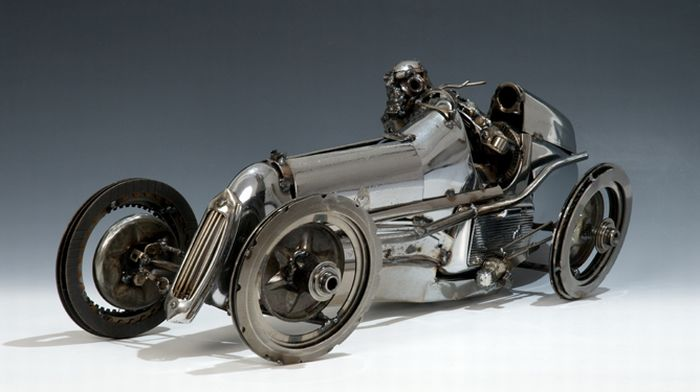 My Funny: James Corbett's Old Car Parts Art | Pictures