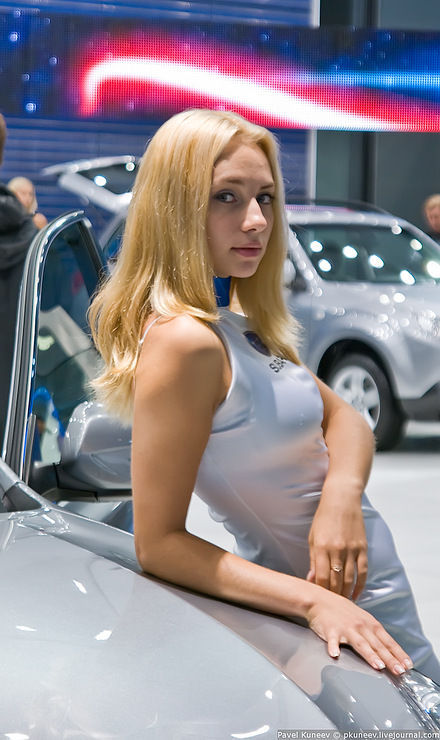 Girls of Moscow International Automobile Show hot images