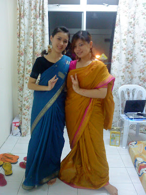 know how to wear saree can see that my saree is out of shapehaha