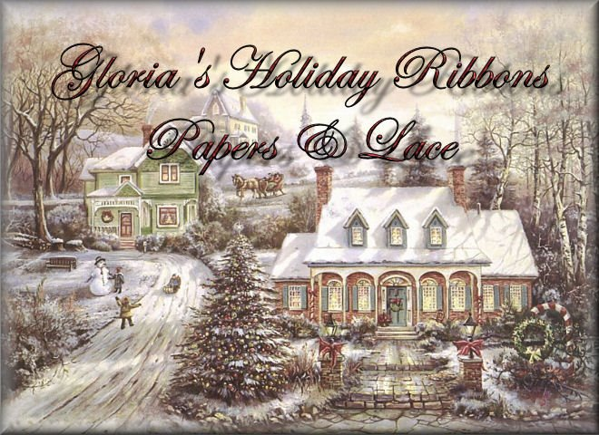 Gloria's Holiday Ribbons Papers and Lace