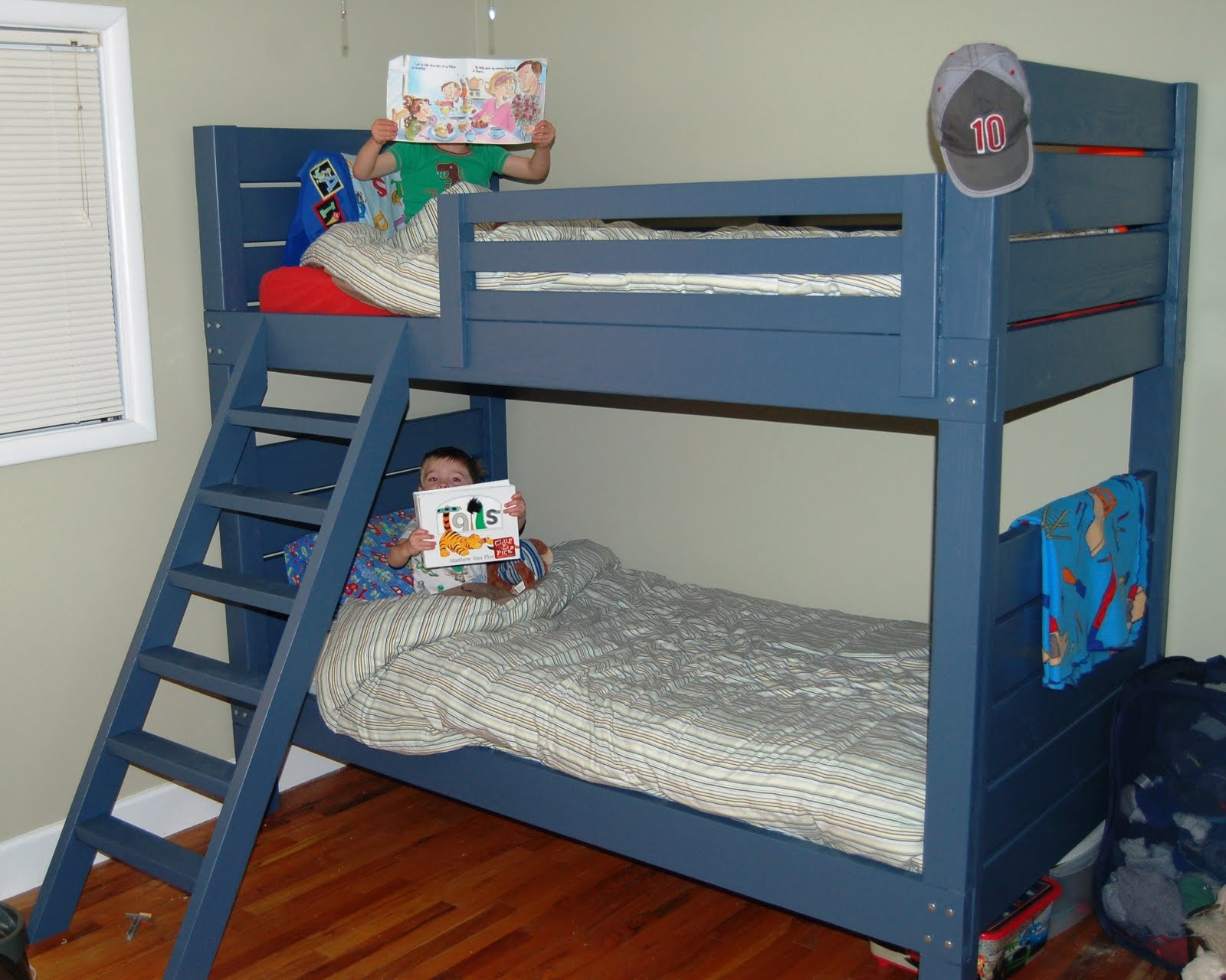 Blue Simple Bunk Beds
