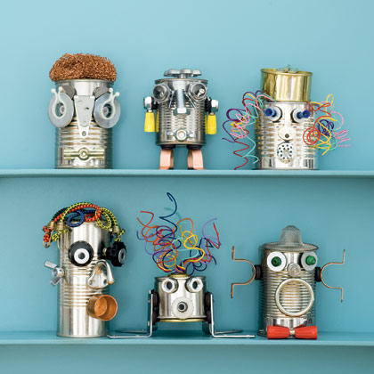 Craft Ideas  on Make From Tin Cans And Household Bric A Brac  Whoever Thought This