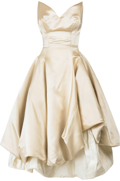 satin bustier wedding gown