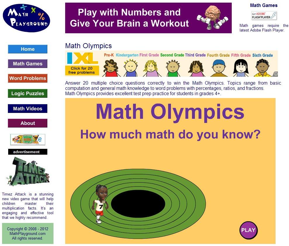 Math Playground Thinking Blocks