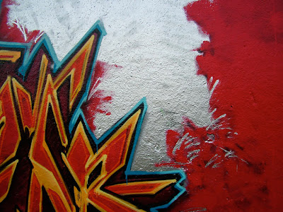 blood, graffiti alphabets