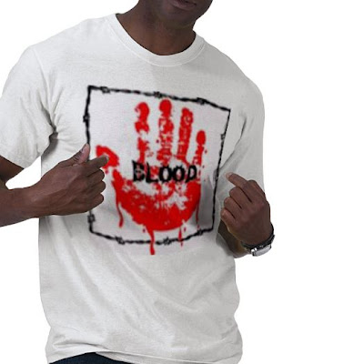 blood symbol on the t-shirt 2