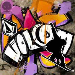 volcom title graffiti
