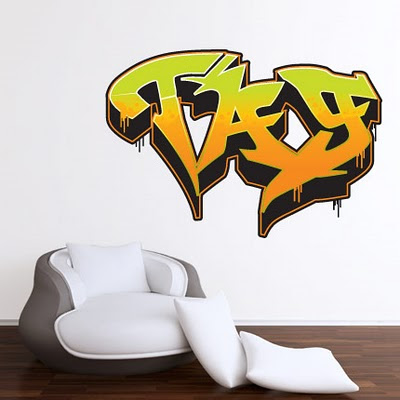 Furniture Graffiti Alphabet 01