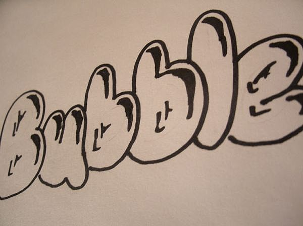 How Do You Draw Bubble Letters3