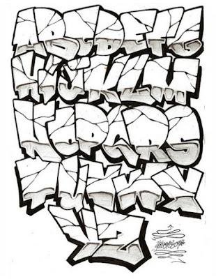 1Stencil Graffiti Alphabet Letters 2011