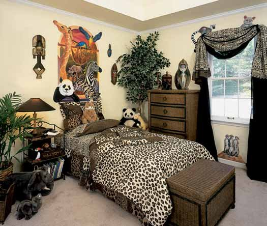 Mind space making your room wild safari theme room for Jungle living room ideas