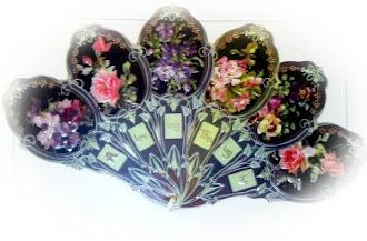 abanico victoriano flores