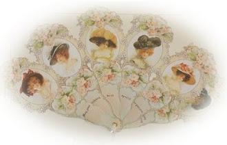 abanico victoriano sombreros