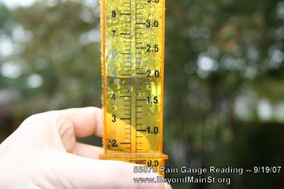 rain gauge reading 9/19/07