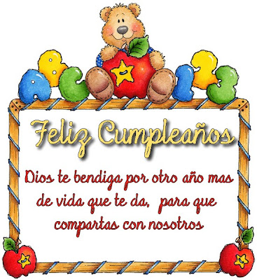 Tarjeta de Feliz Cumpleaos III | Separadores Cristianos