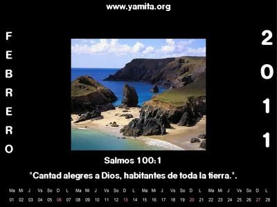 Calendario Febrero 2011 Salmos 100:1