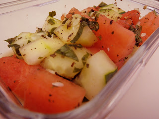 Watermelon Cucumber Salad - Scrumptiously Fit Food