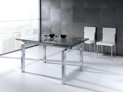 Mesas de comedor por la decoradora experta mesas de cristal for Mesas de salon de cristal