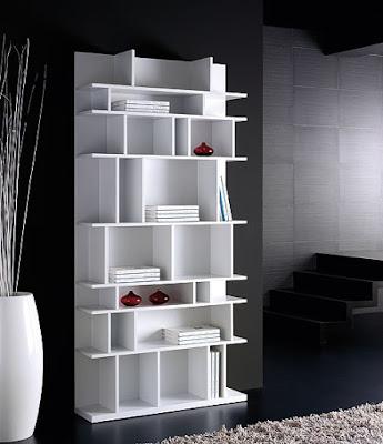 Estanter as blancas for Muebles librerias modernas