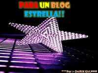 Esta estrella me la regala Marisella del blog http://elpanaldelaabejita.blogspot.com/