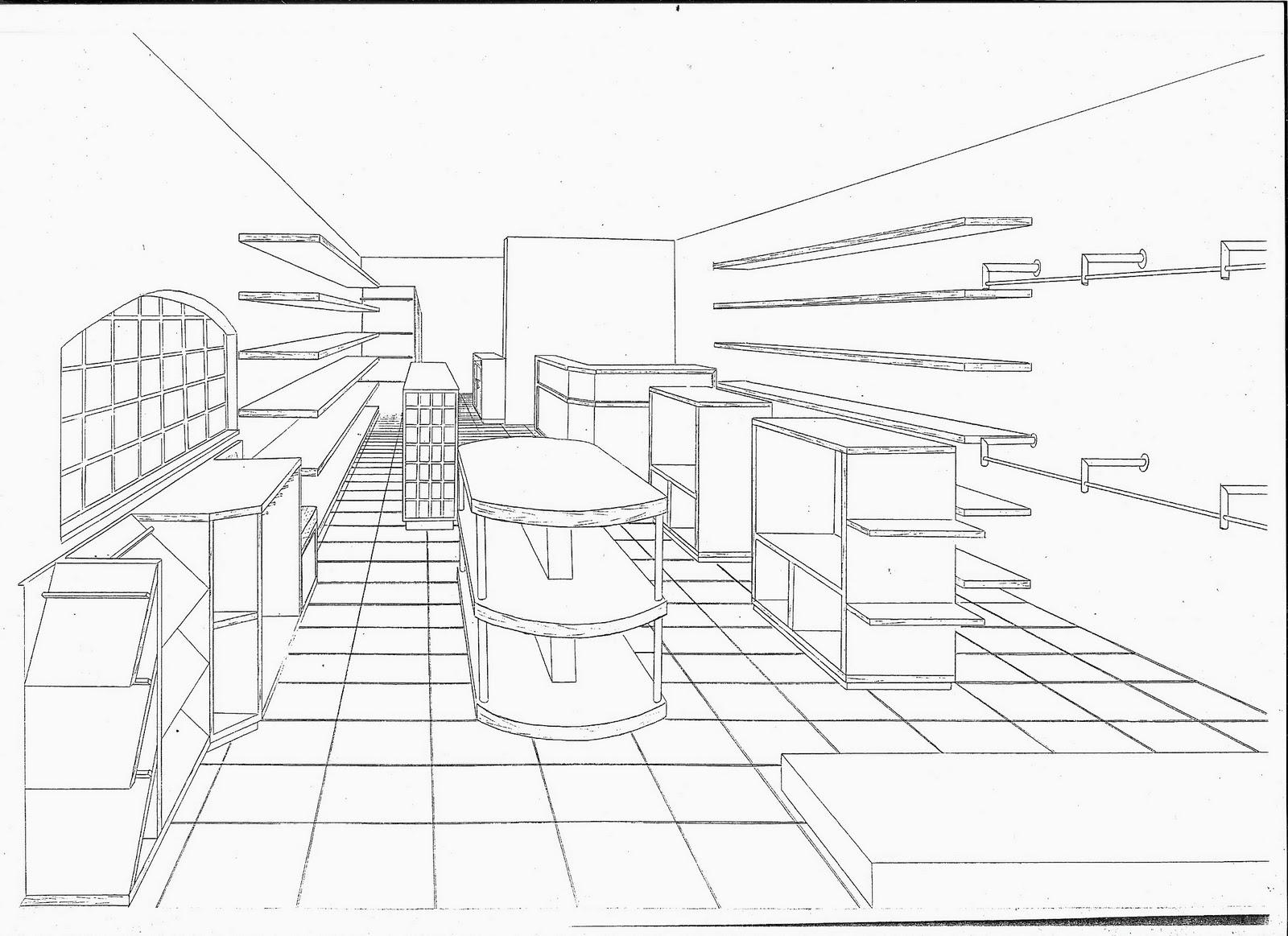 Desafios: loja de roupas em perspectiva. Um ponto de vista #656666 1600 1163